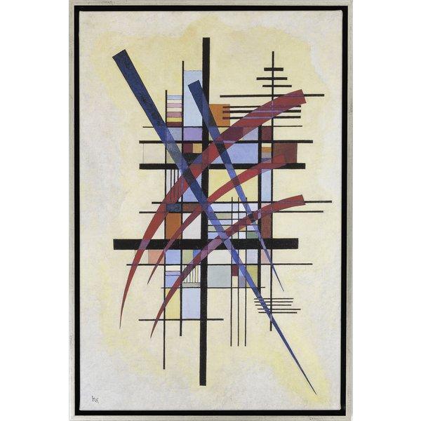 Wassily Kandinsky: Bild 'Zeichen mit Begleitung' (1927), gerahmt