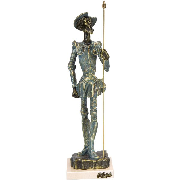 Angeles Anglada: Skulptur 'Don Quijote', Kunstguss Steinoptik