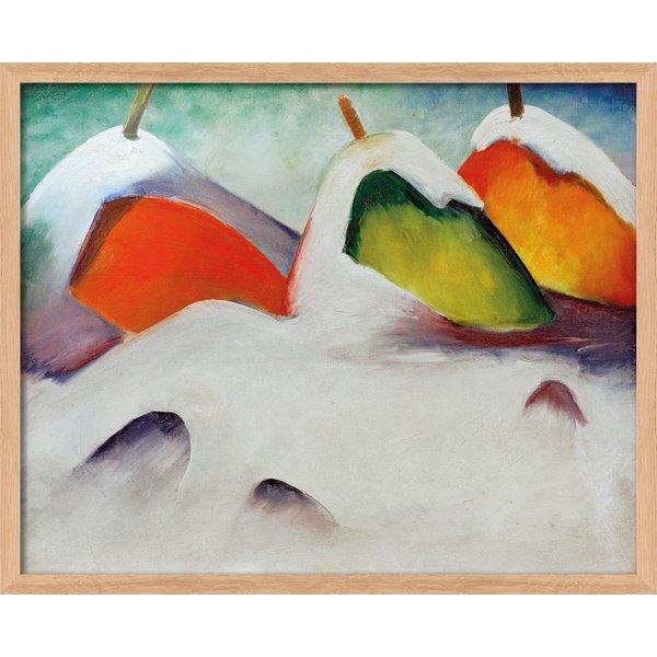 Franz Marc: Bild 'Hocken im Schnee' (1911), Version naturfarben gerahmt