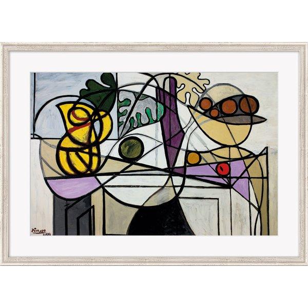 Pablo Picasso: Bild 'Krug und Obstschale' (1931), gerahmt