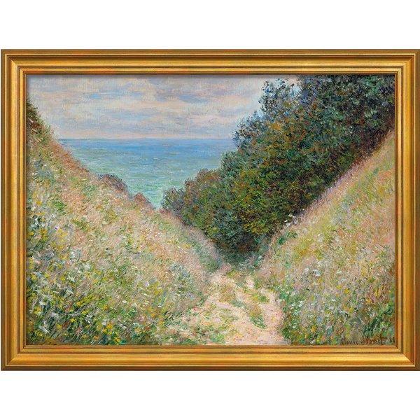 Claude Monet: Bild 'Chemin de la Cavée, Pourville - Der Weg La Cavée bei Pourville' (1882), gerahmt