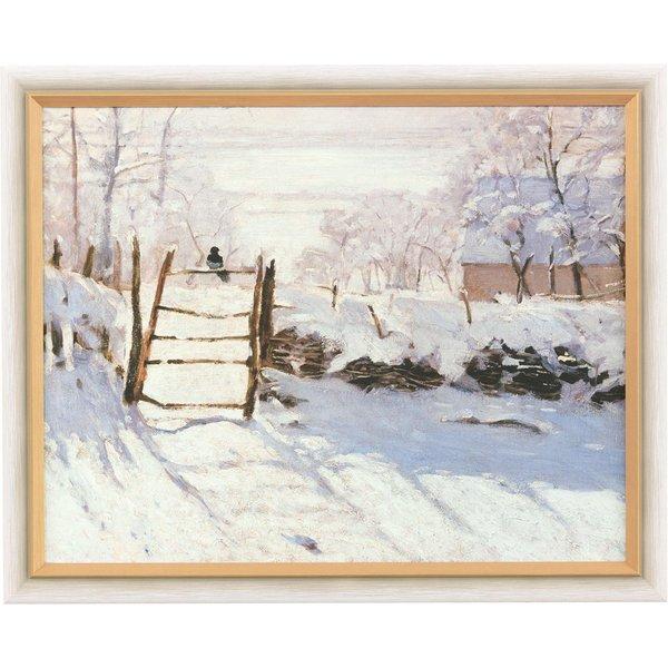 Claude Monet: Bild 'Die Elster' (1868/69), gerahmt