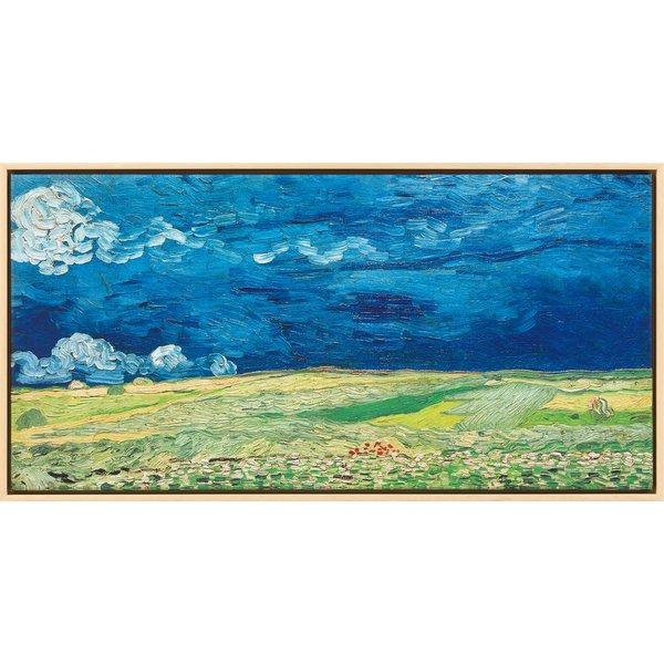 Vincent van Gogh: Bild 'Kornfeld bei Gewitterstimmung' (1890), gerahmt