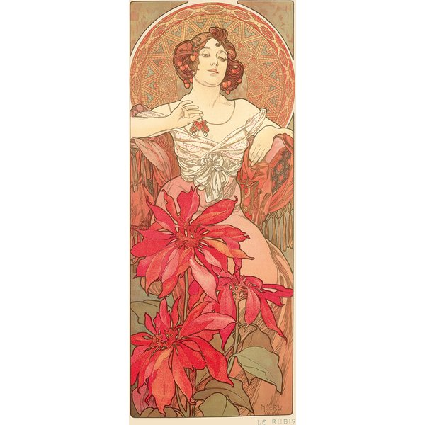 Alphonse Mucha: Glasbild 'Rubin'
