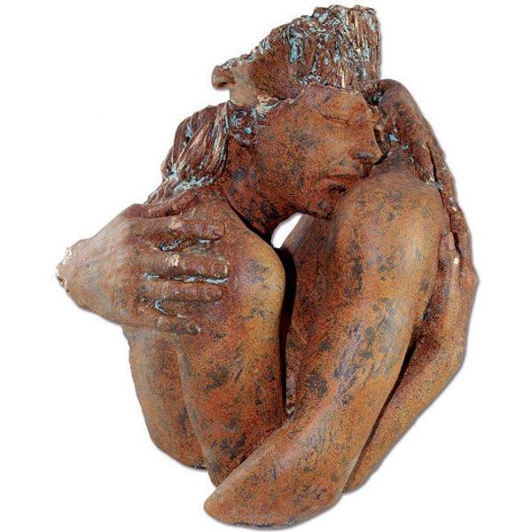 Angeles Anglada: Skulptur 'Wertschätzung', Kunstguss Steinoptik