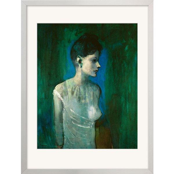 Pablo Picasso: Bild 'Junge Frau mit weißem Hemd' (1905), gerahmt