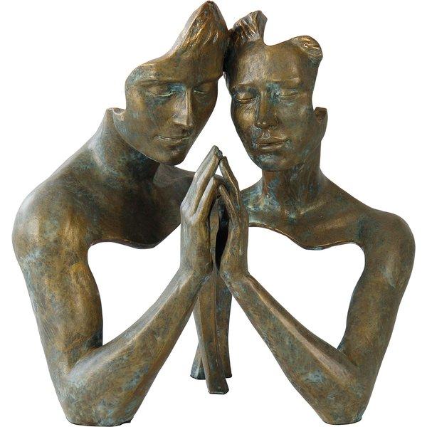 Angeles Anglada: Skulptur 'Tangle', Kunstguss Steinoptik