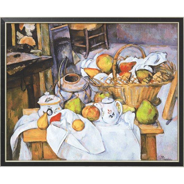 Paul Cézanne: Bild 'Stillleben mit Früchtekorb' (1888/90), gerahmt
