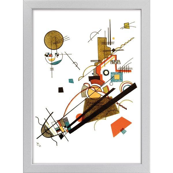 Wassily Kandinsky: Bild 'Fröhlicher Aufstieg' (1923), gerahmt