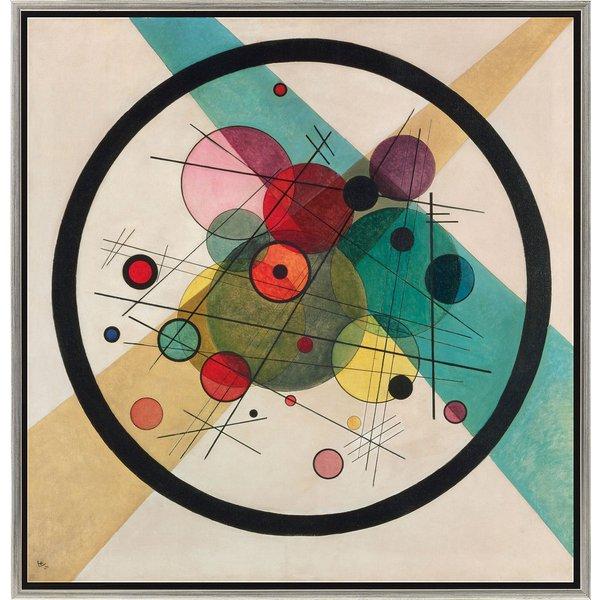 Wassily Kandinsky: Bild 'Kreise in einem Kreis' (1923), gerahmt