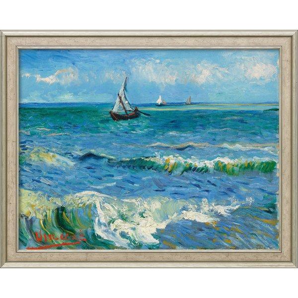 Vincent van Gogh: Bild 'Das Meer bei Les Saintes-Maries-de-la-Mer' (1888), Version silber gerahmt