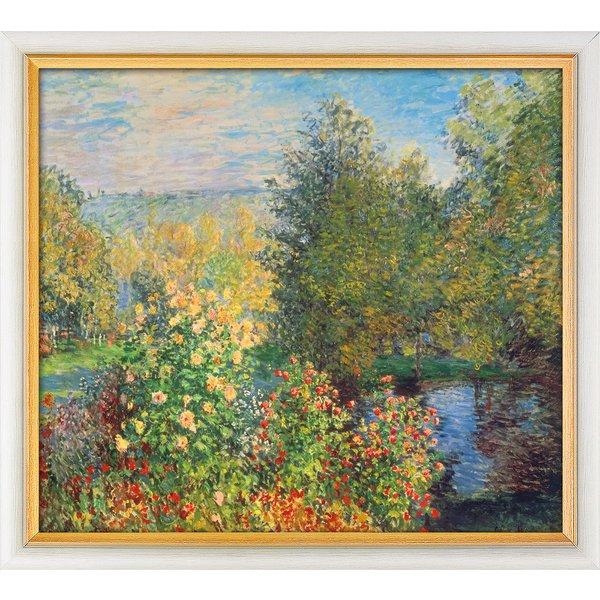 Claude Monet: Bild 'Stiller Winkel im Garten von Montgeron' (1876), gerahmt