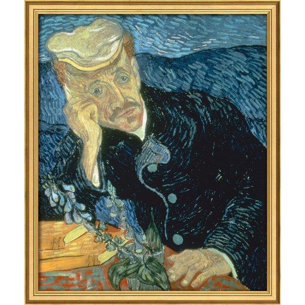 Vincent van Gogh: Bild 'Bildnis des Dr. Gachet' (1890), gerahmt