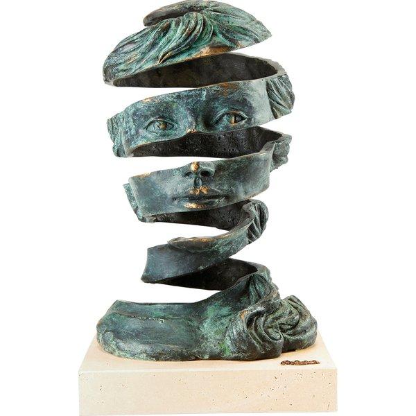 Angeles Anglada: Büste 'Imagination', Bronze, Skulptur