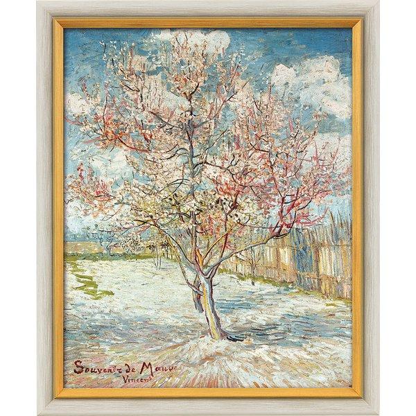 Vincent van Gogh: Bild 'Blühender Pfirsichbaum' (1888), gerahmt