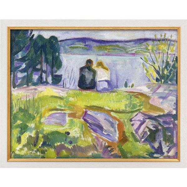 Edvard Munch: Bild 'Frühling (Liebespaar am Ufer)' (1911-13), gerahmt