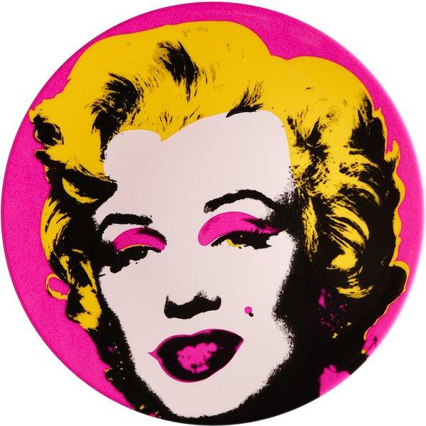 Andy Warhol: Porzellanteller 'Marilyn' (Pink)