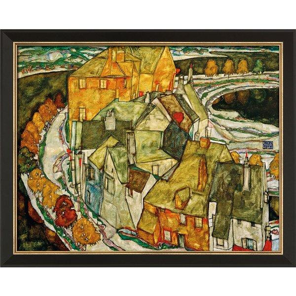 Egon Schiele: Bild 'Der Häuserbogen (Inselstadt)' (1915), gerahmt