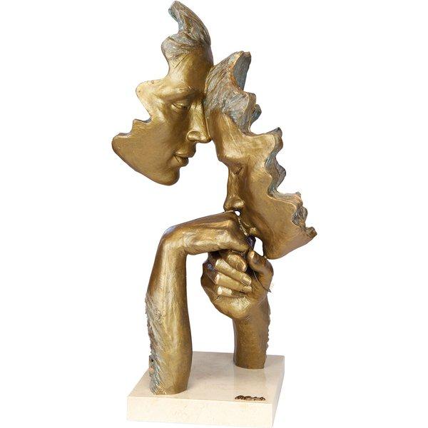 Angeles Anglada: Skulptur 'Vertrautheit', Kunstguss Steinoptik