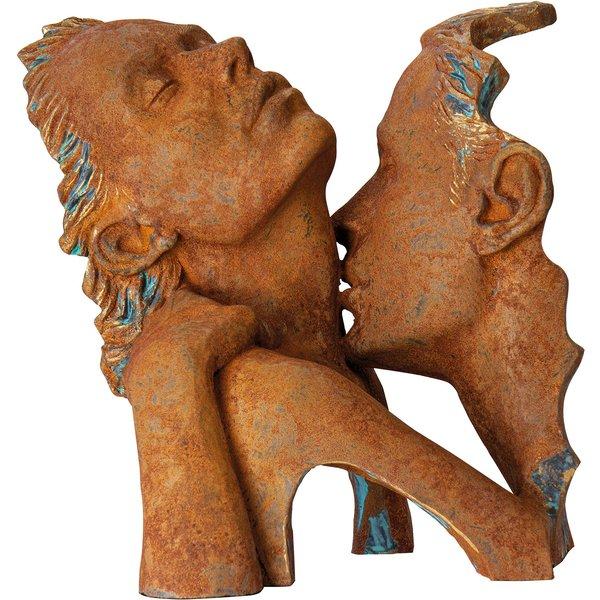 Angeles Anglada: Skulptur 'Verführung', Kunstguss Steinoptik