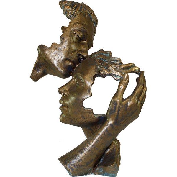 Angeles Anglada: Skulptur 'Poesie der Liebe', Kunstguss Steinoptik