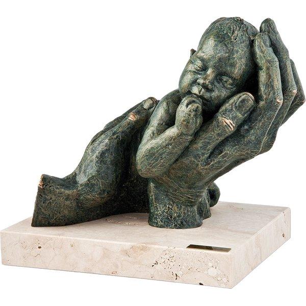 Angeles Anglada: Skulptur 'Erste Träume', Kunstguss Steinoptik