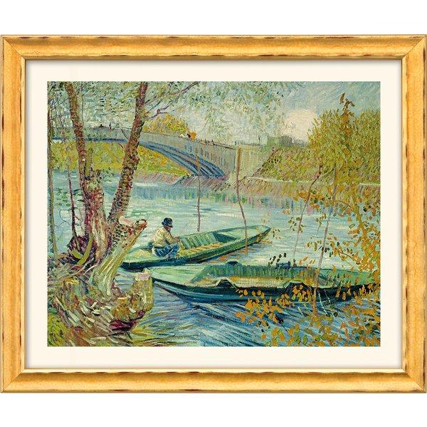 Vincent van Gogh: Bild 'Fischen im Frühling' (1887), gerahmt