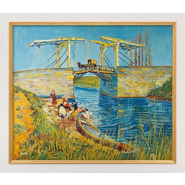 Vincent van Gogh: Bild 'Zugbrücke in Arles (Le Pont de Langlois)' (1888), gerahmt