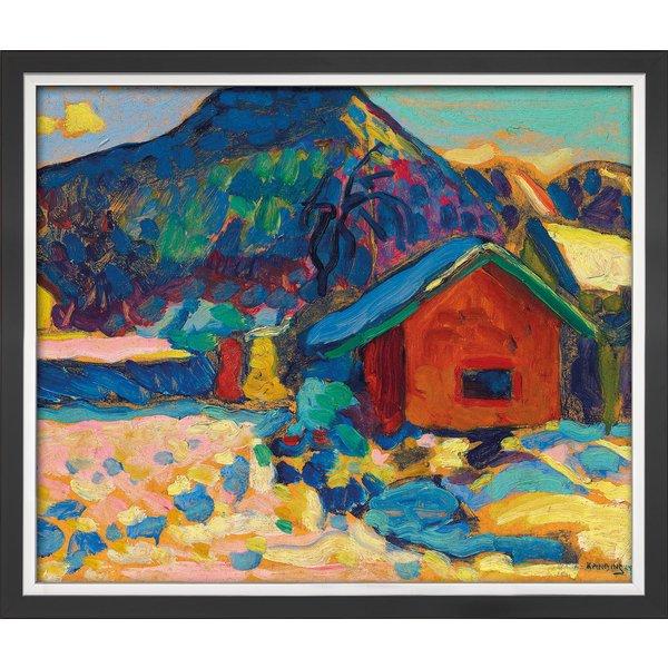 Wassily Kandinsky: Bild 'Winterstudie mit Berg' (1908), gerahmt
