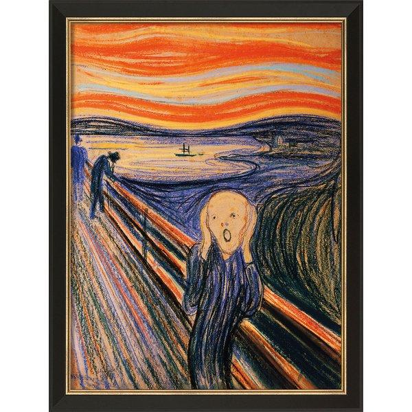 Edvard Munch: Bild 'Der Schrei' (1895), gerahmt