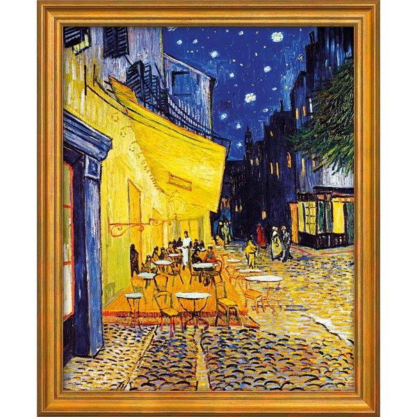 Vincent van Gogh: Bild 'Café-Terrasse am Abend in Arles' (1888), gerahmt