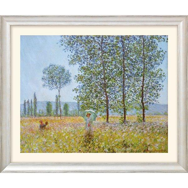 Claude Monet: Bild 'Felder im Frühling' (1887), Version silber gerahmt