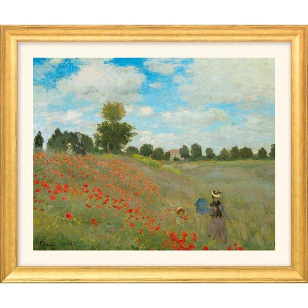Claude Monet: Bild 'Les coquelicots à Argenteuil (Das Mohnfeld bei Argenteuil)' (1873), Version gold