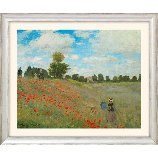 Claude Monet: Bild 'Les coquelicots à Argenteuil (Das Mohnfeld bei Argenteuil)' (1873), Version silb