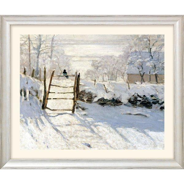 Claude Monet: Bild 'Die Elster' (1868/69), Version silber gerahmt