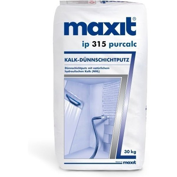 maxit ip 315 purcalc - Kalk-Dünnschichtputz für Innen - 30kg