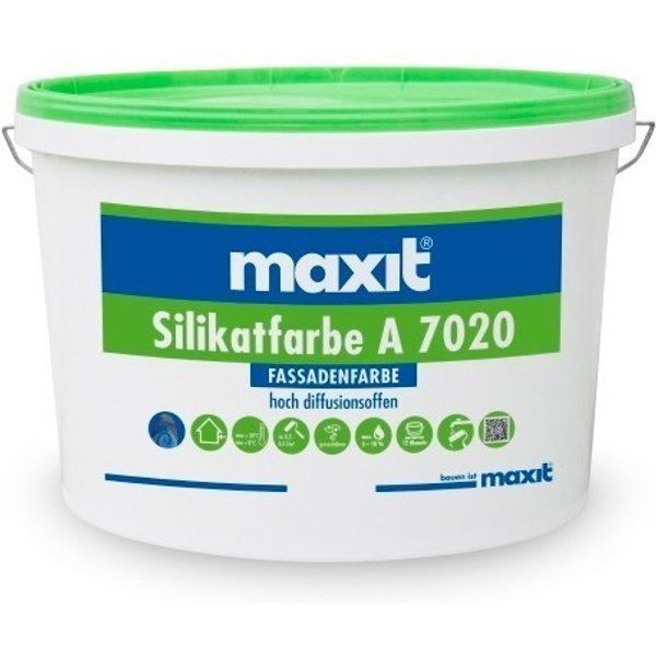 5ltr maxit Silikatfarbe A 7020, weiß - Fassadenfarbe