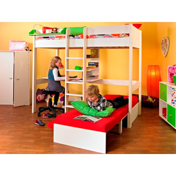 Stompa Nero Uno 5 Highsleeper With Desk,Pullout Chairbed