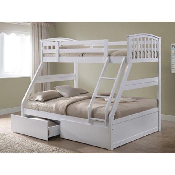 Artisan Three Sleeper Bunk Bed,White