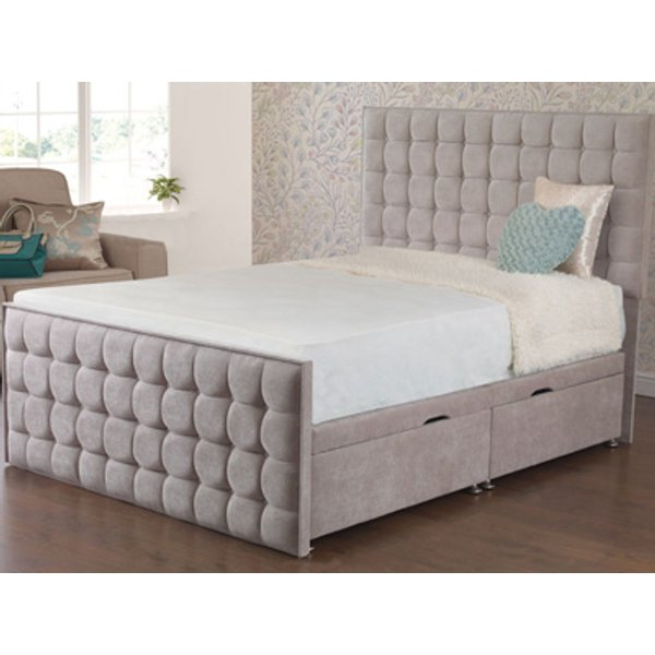 Sweet Dreams Style Classic 4FT Small Double Fabric Divan Frame