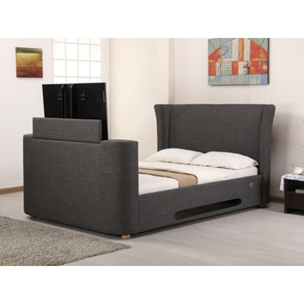 Artisan Audio 5FT Kingsize TV Bed,Grey