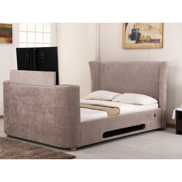 Artisan Audio 5FT Kingsize TV Bed,Mink