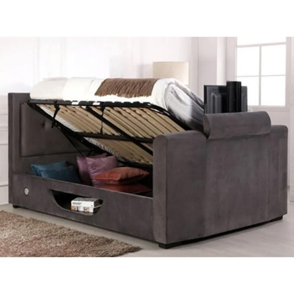 Flair Juliet 5FT Kingsize Ottoman TV Bed,Grey