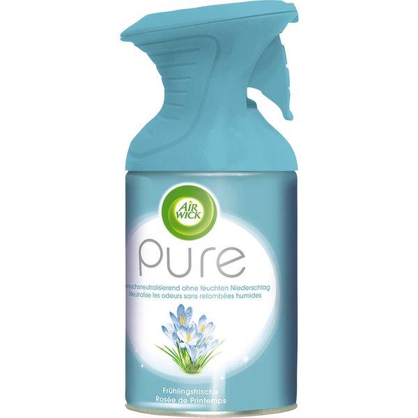 AIR WICK Pure Duftspray, 250 ml, Beseitigt unangenehme Gerüche, sofortige Wirkung, ohne feuchten Niederschlag, Frühlingsfrische