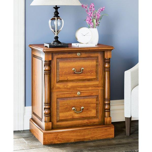 Baumhaus La Reine Mahogany 2 Drawer Filing Cabinet