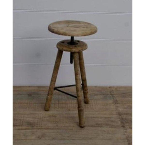 Adjustable Wooden Tripod Stool