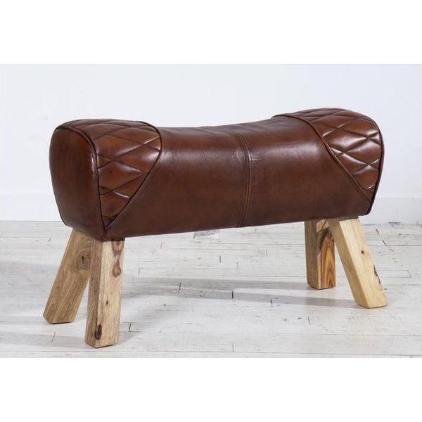2 Seater Pommel Horse Leather Bench