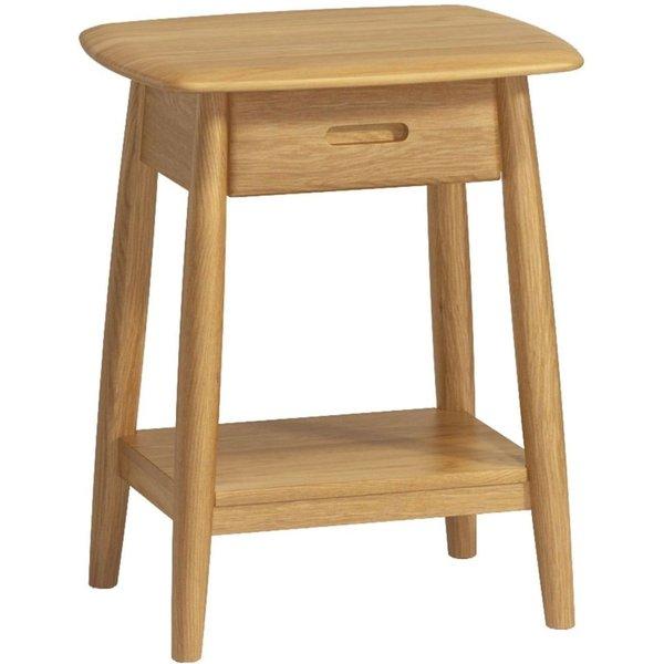 Malmo Oak 1 Drawer Bedside Table