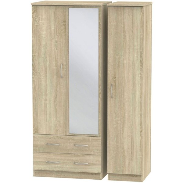 Avon Bardolino 3 Door 2 Left Drawer Combi Wardrobe