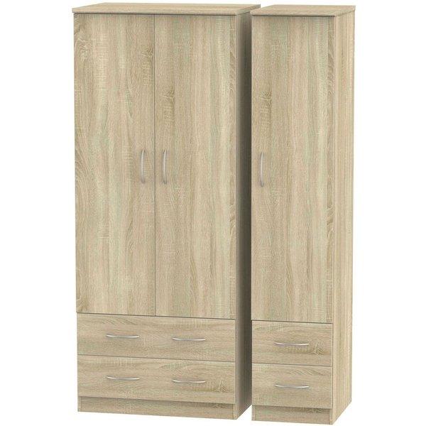 Avon Bardolino 3 Door 4 Drawer Wardrobe